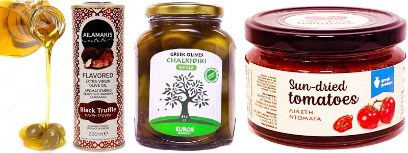 Греческие деликатесы. Оливки, томаты, масло. Таких в магазине не купишь!
