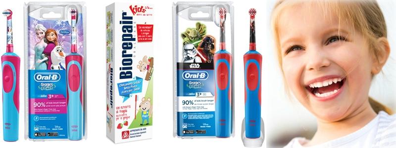 Электрические щётки и зубные пасты для деток.